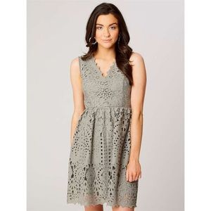 Altar'd State Colleen Grey Fit & Flare Mini Dress